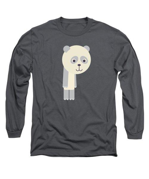 Letter P - Animal Alphabet - Panda Monogram Long Sleeve T-Shirt