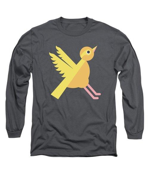 Letter X - Animal Alphabet - Xenops Monogram Long Sleeve T-Shirt