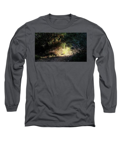 Long Sleeve T-Shirt featuring the photograph Light On The Tracks by August Timmermans