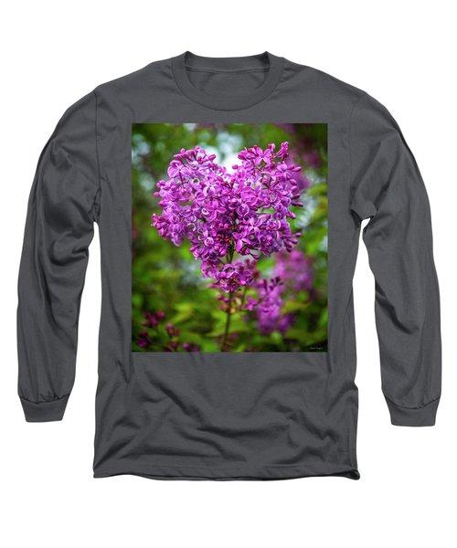 Lilac Heart Long Sleeve T-Shirt
