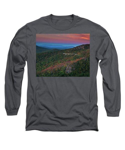 Linn Cove Pink And Blue Long Sleeve T-Shirt