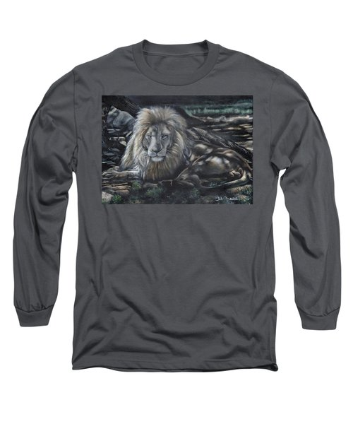 Lion In Dappled Shade Long Sleeve T-Shirt
