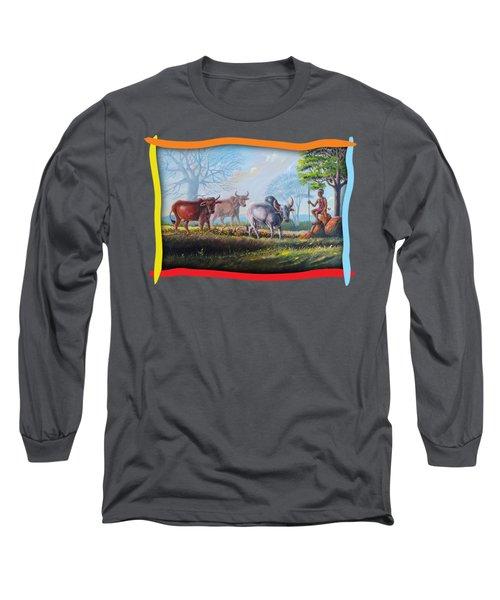 Little Cow Boy Long Sleeve T-Shirt