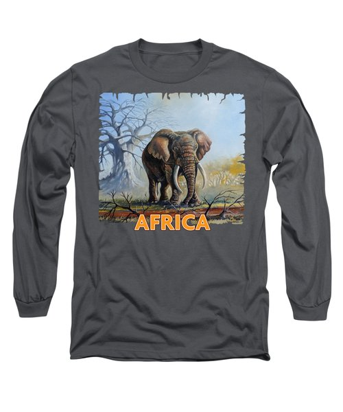 Lone Elephant Browsing Long Sleeve T-Shirt