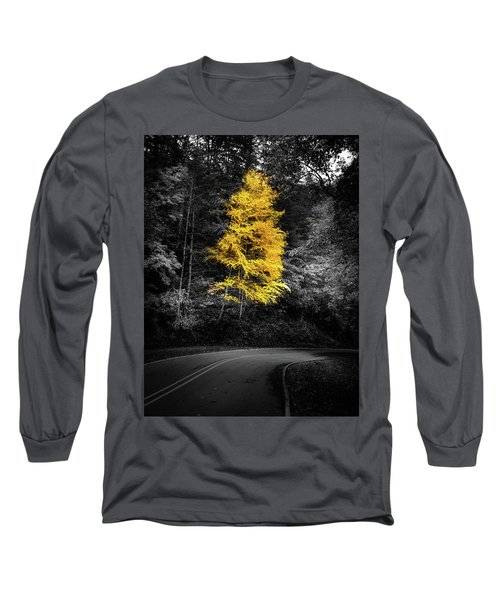 Lone Yellow Tree In The Curve Long Sleeve T-Shirt