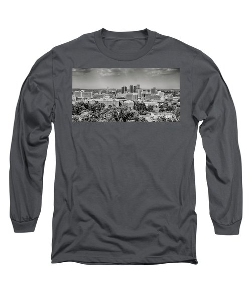 Magic City Skyline Bw Long Sleeve T-Shirt