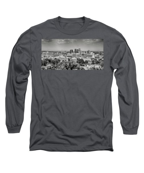 Magic City Skyline Bw Long Sleeve T-Shirt