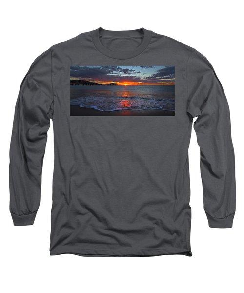 Malibu Pier Sunrise Long Sleeve T-Shirt