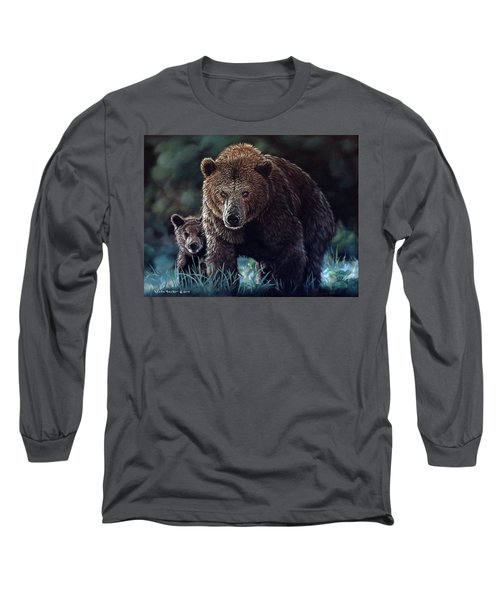 Mama Brown With Cubs Long Sleeve T-Shirt