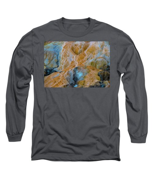 Long Sleeve T-Shirt featuring the photograph Mammoth Hot Springs by Mae Wertz
