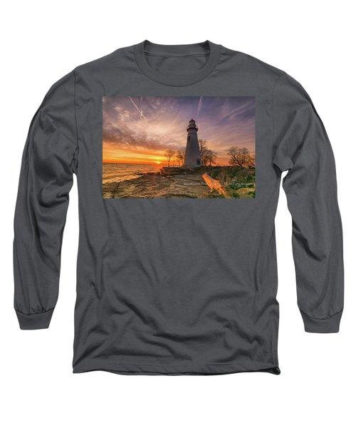 Marblehead Lighthouse Sunrise  Long Sleeve T-Shirt