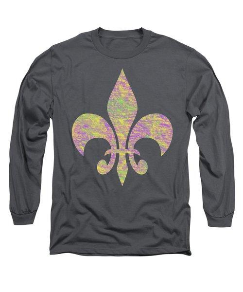 Mardi Gras Party Fleur De Lis Long Sleeve T-Shirt