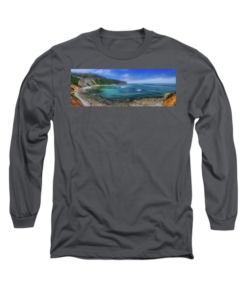 Marine Layer Over Bluff Cove Panorama Long Sleeve T-Shirt