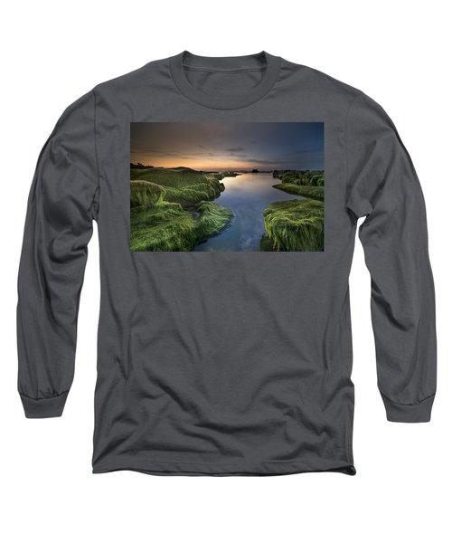 Marine Sunset Long Sleeve T-Shirt