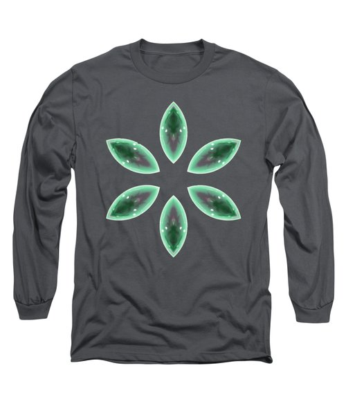Long Sleeve T-Shirt featuring the digital art Marquise Floral 2 by Rachel Hannah