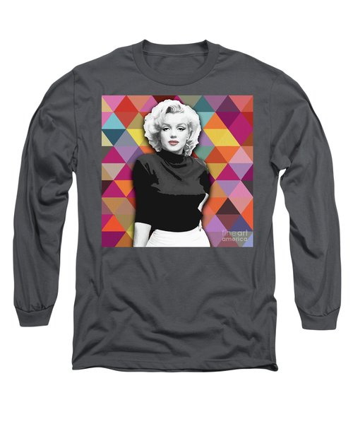 Long Sleeve T-Shirt featuring the painting Marylin Monroe Diamonds by Carla Bank