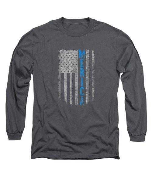 'merica American Flag Vintage Men Women Gift 2018 T-shirt Long Sleeve T-Shirt
