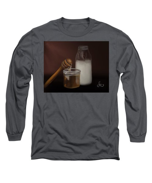 Long Sleeve T-Shirt featuring the painting Milk And Honey  by Fe Jones