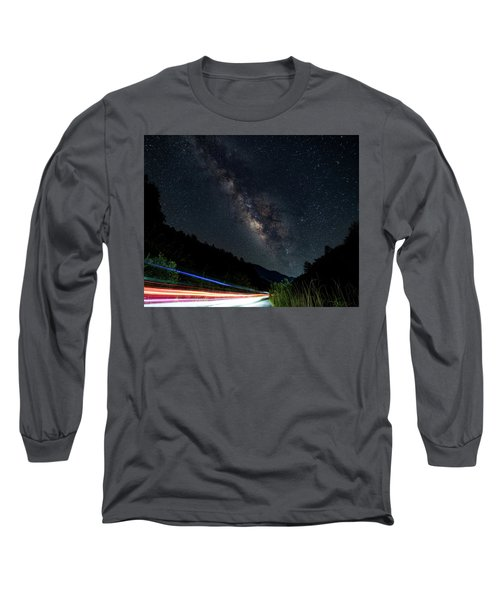 Milky Way Over The South Road Long Sleeve T-Shirt