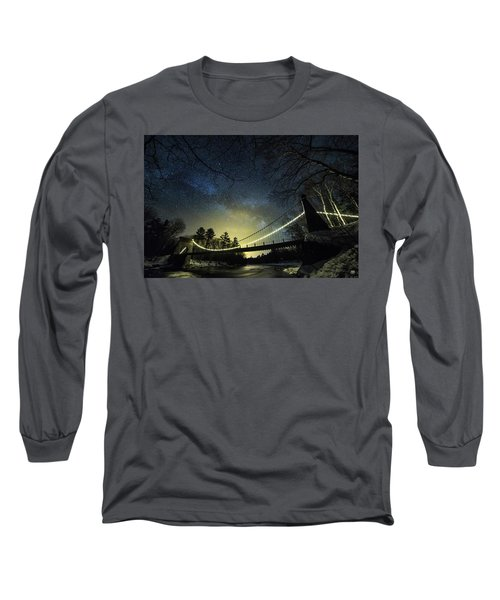Milky Way Over The Wire Bridge Long Sleeve T-Shirt