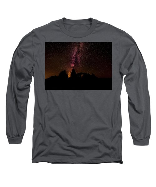 Long Sleeve T-Shirt featuring the photograph Milky Way Over Turret Arch by Andy Crawford