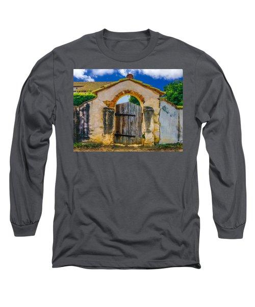 Mission San Miguel Arcangel Courtyard Entrance Long Sleeve T-Shirt