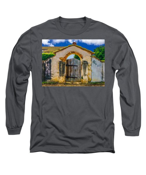 Mission San Miguel Arcangel Courtyard Entrance Long Sleeve T-Shirt