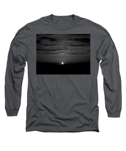 Monochrome Sunrise Long Sleeve T-Shirt