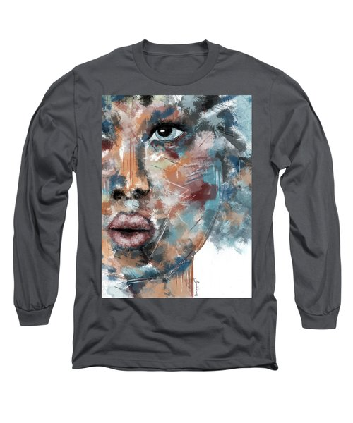 Moonshine-woman Abstract Art Long Sleeve T-Shirt