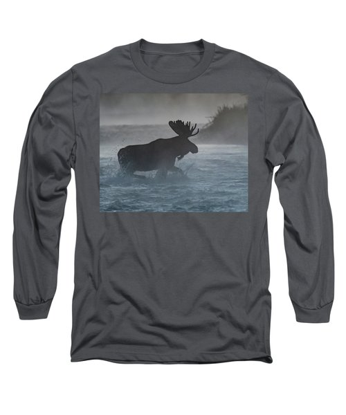 Long Sleeve T-Shirt featuring the photograph Morning Crossing by Mary Hone