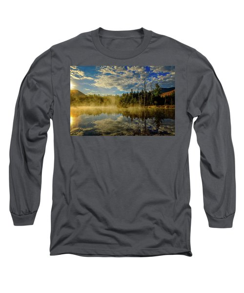 Morning Mist, Wildlife Pond  Long Sleeve T-Shirt