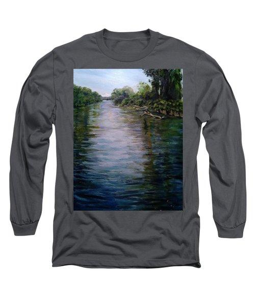 Mount Baker Peekaboo View From Lowell Riverfront Trail Long Sleeve T-Shirt
