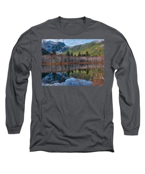Mountain Lake Reflections Long Sleeve T-Shirt