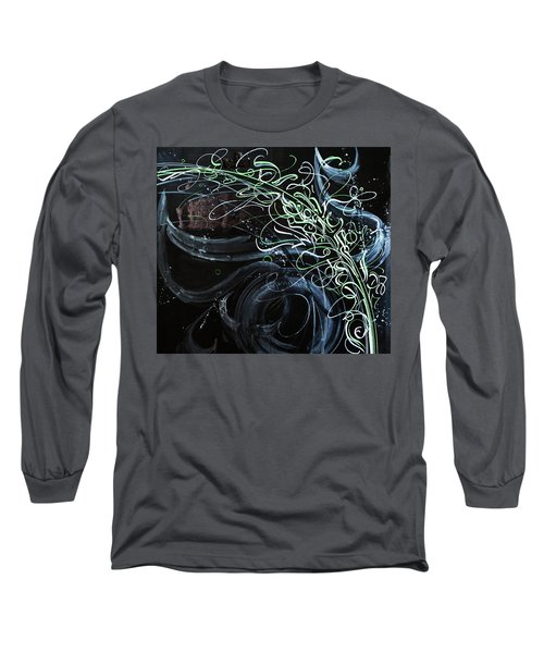 Movement Of The Universe. Calligraphic Abstract Long Sleeve T-Shirt