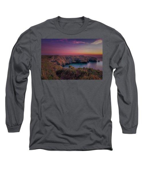 Mullion Cove Cornwall Sunset Long Sleeve T-Shirt