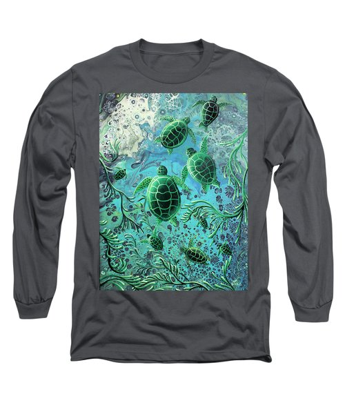 Long Sleeve T-Shirt featuring the painting Munchkins by William Love