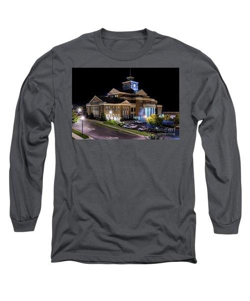 Municipal Center At Night - North Augusta Sc Long Sleeve T-Shirt