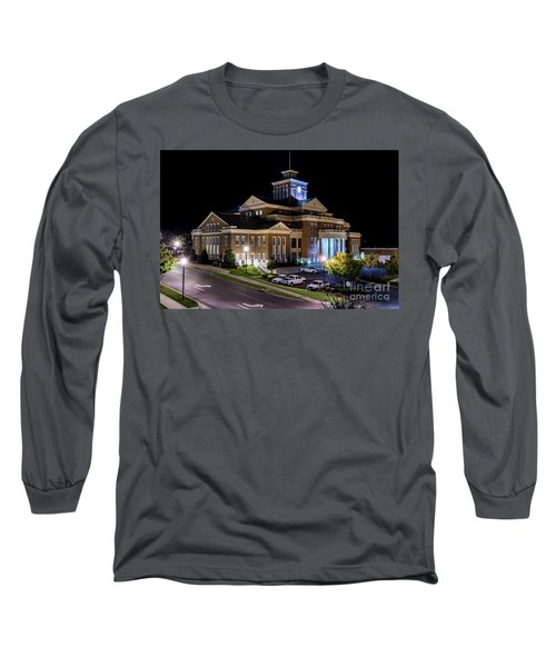 Municipal Center At Night - North Augusta Sc Long Sleeve T-Shirt