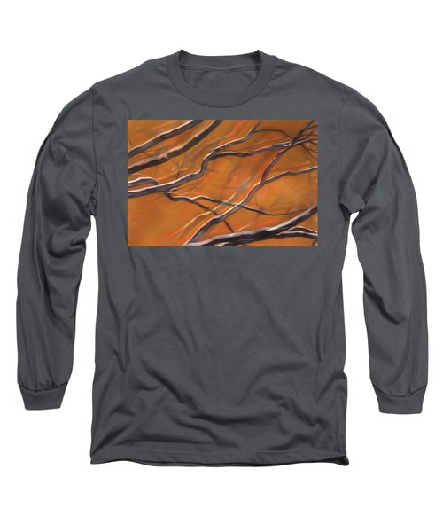 Long Sleeve T-Shirt featuring the mixed media Mystic Forest 12 by Lynda Lehmann