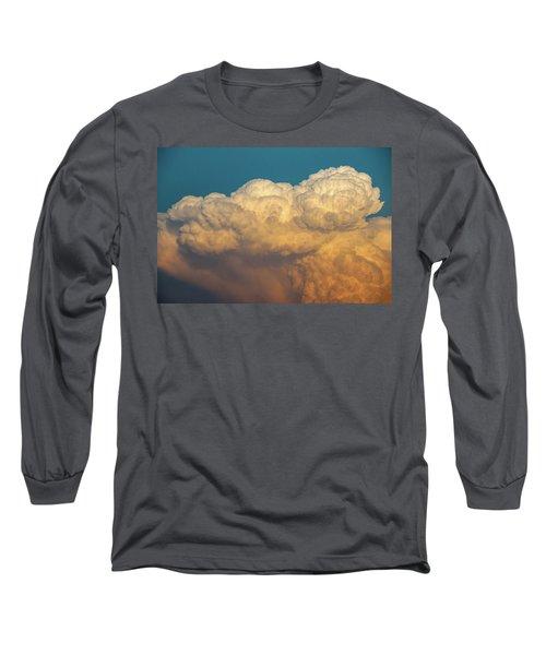 Nebraska Sunset Thunderheads 053 Long Sleeve T-Shirt