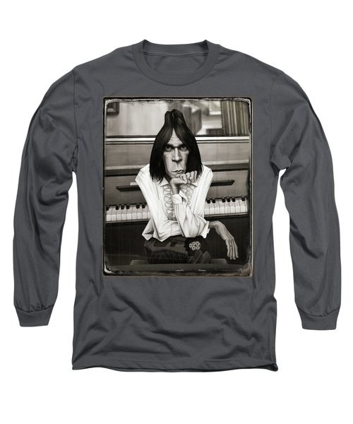 Neil Young Piano Long Sleeve T-Shirt