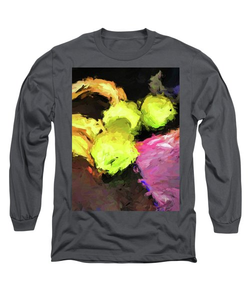 Neon Apples With Bananas Long Sleeve T-Shirt