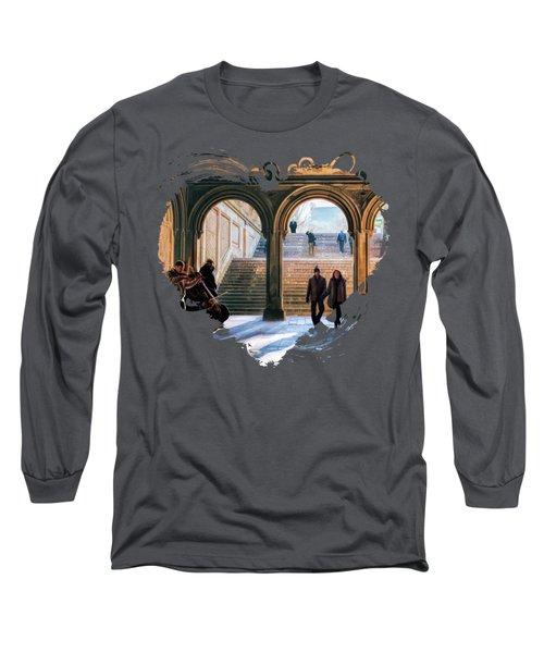 New York City Central Park Bethesda Terrace Arcade Long Sleeve T-Shirt