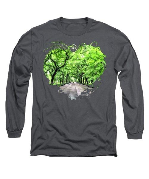 New York City Central Park Mall Long Sleeve T-Shirt