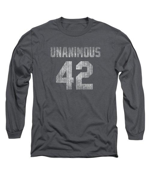 New York Rivera 42 Baseball Unanimous Hof Distress Tshirt Mo Long Sleeve T-Shirt