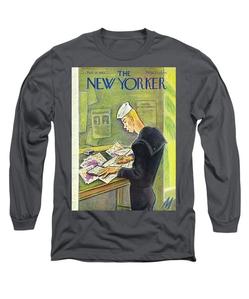 New Yorker February 14th 1942 Long Sleeve T-Shirt