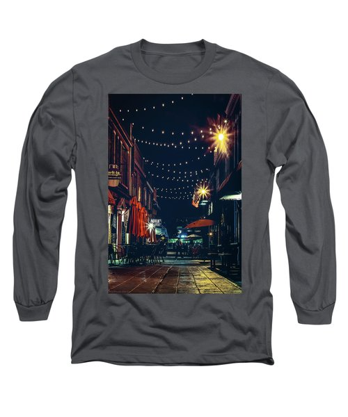 Night Dining In The City Long Sleeve T-Shirt