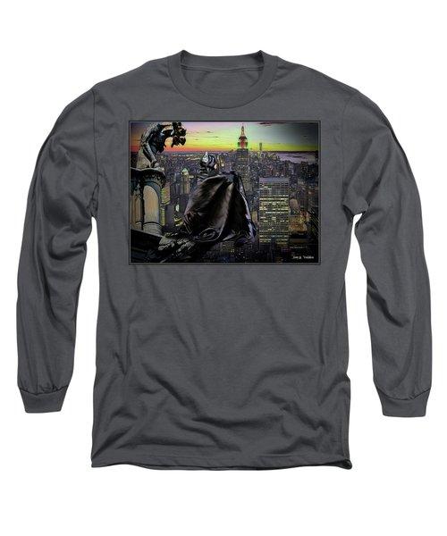 Night Of The Bat Man Long Sleeve T-Shirt