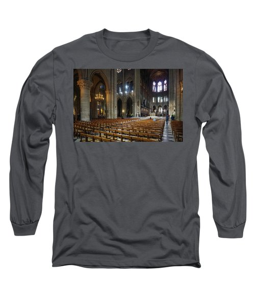 Long Sleeve T-Shirt featuring the photograph Notre-dame by Jim Mathis