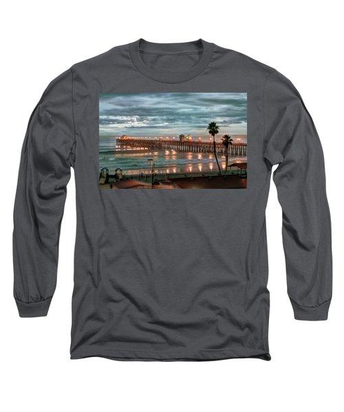 Oceanside Pier At Dusk Long Sleeve T-Shirt